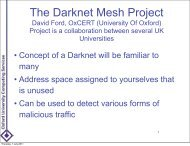 The Darknet Mesh Project - University of Oxford