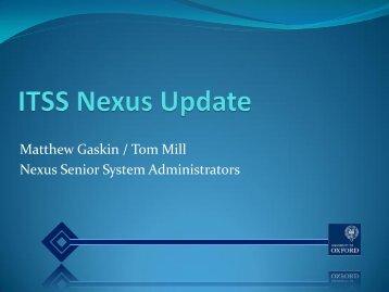 Nexus (pdf) - IT Services