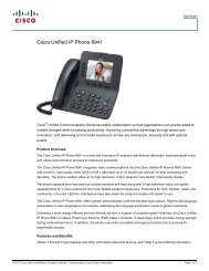 Cisco Unified IP Phone 8941 - IT Services
