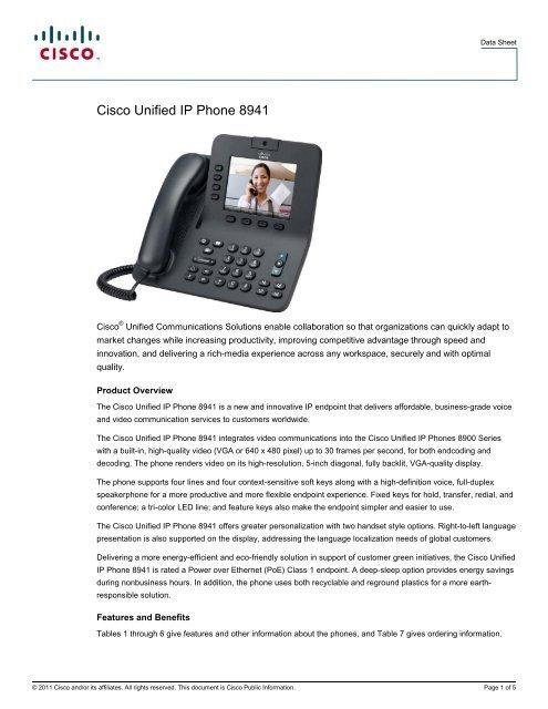 Cisco 9951 ip phone datasheet