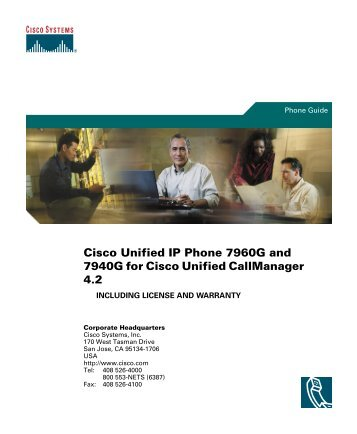 Cisco Unified IP Phone 7960G and 7940G Phone ... - IT Services