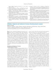 Definition, diagnosis and treatment of immune ... - Haematologica