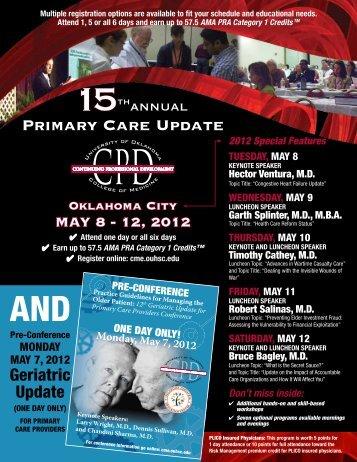Primary Care Update - University of Oklahoma Health Sciences Center