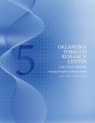 OklahOma TObaccO ReseaRch cenTeR - University of Oklahoma ...