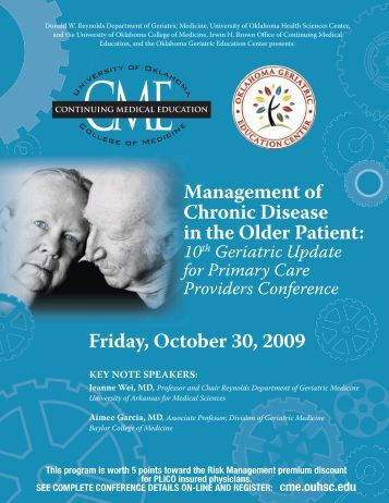 Management Of Chronic Disease in The Older patient - University of ...