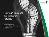 How can I protect my research results? - Oulu