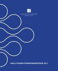 HALLITUKSEN TOIMINTAKERTOMUS 2012 - Oulu