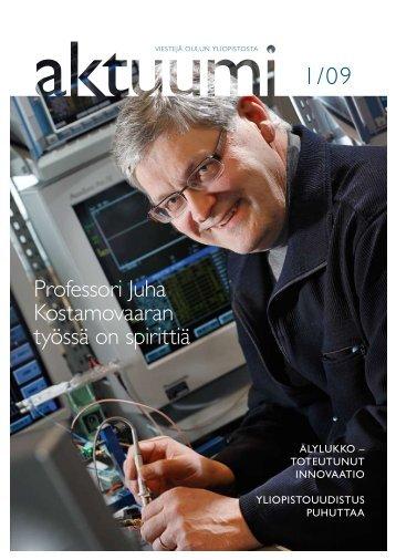Professori Juha Kostamovaaran työssä on spirittiä - Oulu
