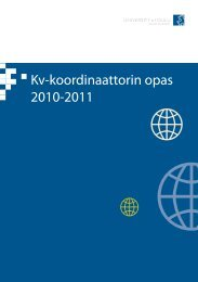Kv-koordinaattorin opas 2010-2011 - Oulu