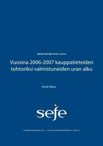 Sefen raportti 2010; vuosina 2006-2007 kauppatieteiden ... - Oulu