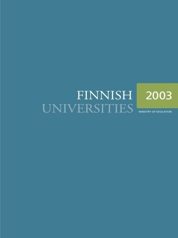 FINNISH UNIVERSITIES 2003 - Oulu