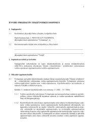 ENVIRU-PROJEKTIN TEKIJÄNOIKEUSSOPIMUS - Oulu