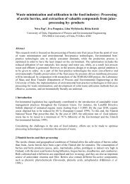 Waste minimization and utilization in the food industry: Processing of ...
