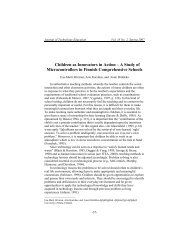 A Study of Microcontrollers in Finnish Comprehensive Schools - Oulu