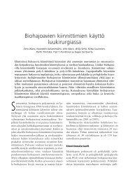 Biohajoavien kiinnittimien käyttö luukirurgiassa - Oulu