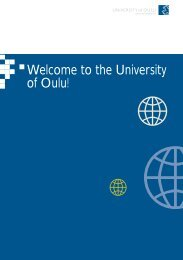 Welcome to the University of Oulu!