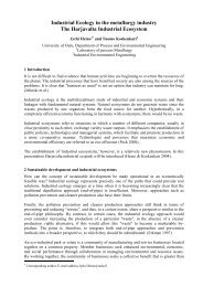 Industrial Ecology in the metallurgy industry The Harjavalta ... - Oulu