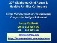 Self-Care for the Professional Helper - OU Medicine