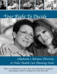 Your Right To Decide: Oklahoma's Advance Directive - OU Medicine