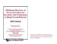 ALPHABETICAL LISTING OF SERVICE PROVIDERS - OU Medicine