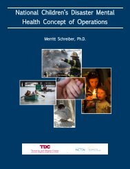 National Children's Disaster Mental Health Concept of Operations
