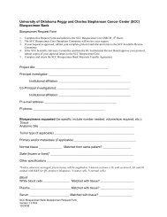 Biospecimen Request Form - OU Medicine