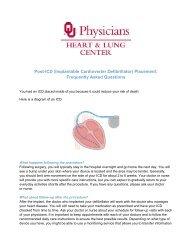 Post-ICD (Implantable Cardioverter Defibrillator ... - OU Medicine