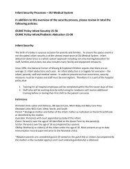 Infant Security Processes – OU Medical System In ... - OU Medicine
