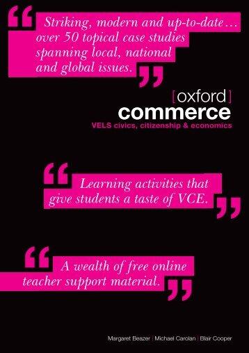 commerce - Oxford University Press