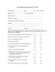 The Childhood Asperger Syndrome Test (CAST) - OU Medicine