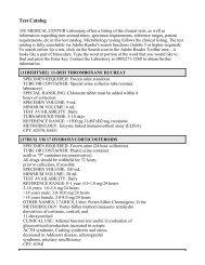 Printable Test Catalog - OU Medicine