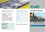 Concrete Accessories We are part of the whole. - Exte