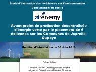 Avant-projet de production décentralisée d'énergie verte ... - Oupeye