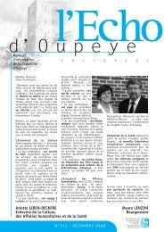 Echo du mois de Décembre 2008 - Oupeye
