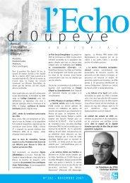Echo du mois de Novembre 2007 - Oupeye