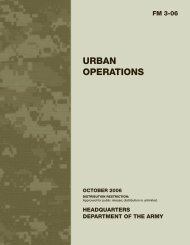 URBAN OPERATIONS - Army Electronic Publications & Forms - U.S. ...