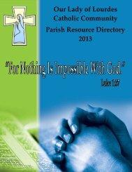 Our Lady of Lourdes Catholic Community Parish Resource Directory ...