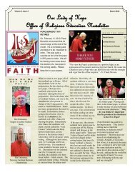 Our Lady of Hope Office of Religious Education Newsletter