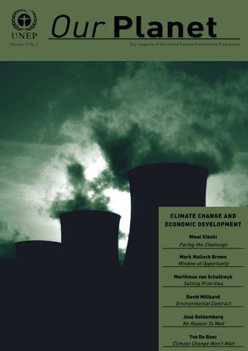 "UNEP Magazine ""Climate change and economic development"""