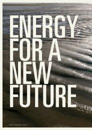 Energy for a new future - Our Planet