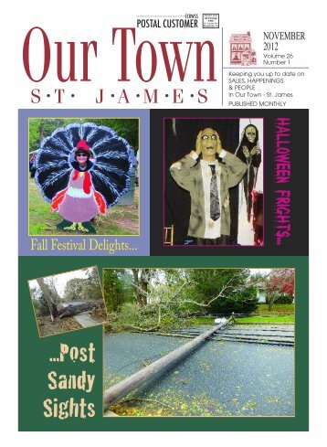November 2012 Volume 26 Number 1 - Our Town | St. James, NY