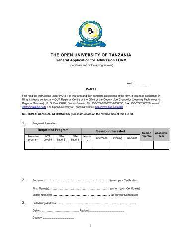 Read More - the Open University of Tanzania