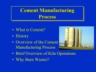 • What is Cement? • History • Overview of the Cement Manufacturing ...