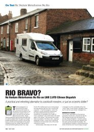 On Test Nu Venture Motorhomes Nu Rio - Out and About Live