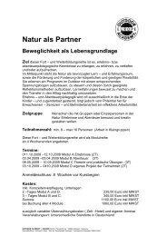 Natur als Partner - Outdoor Academy Europe GmbH