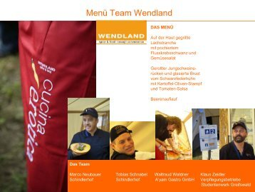 Rezepte Team Wendland - OUTDOOR COOKING CHALLENGE, Die ...