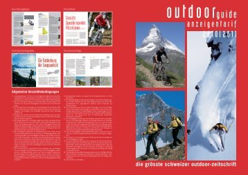 anzeigentarif 2010I2011 - outdoor guide