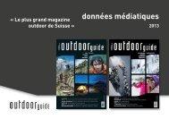 données médiatiques - outdoor guide