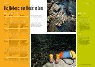Das Baden ist der Wanderer Lust - outdoor guide
