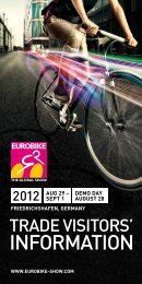 EUROBIKE 2012 | TRADE VISITORS' information